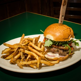 Niman Ranch burger with fries